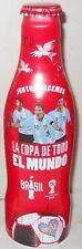 COCA COLA ALUMINUM FULL BOTTLE MESSI  FIFA WORLD CUP BRAZIL 2014  ARGENTINA
