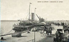 Jersey-Le depart-Embarking at Jersey & horse and carts/carriages(Pub.FF Jersey)