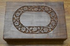 HANDMADE ROSEWOOD HAND CARVED WOOD CHEST JEWELRY BOX #SF-291