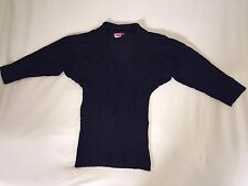 NWOT SAY WHAT? SWEATER SZ M MEDIUM BLACK JUNIOR MISSES