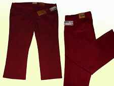 maroon Women's Jeans Jeans Stretchjeans Trousers Plus Size size 56 5 XL Straight