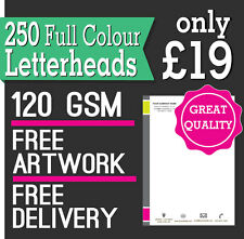 250 Letterheads / Invoices A4, Full Colour, 120 GSM paper