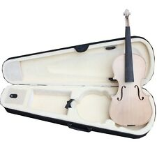 4/4 Violin Unfinished Raw Pro-Quality Solid Flamed Maple Violin Luthier Kit