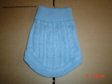 Very cute Light Blue Dog Knitted Sweater Jumper S