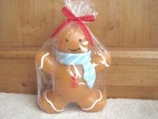 """NEW Gingerbread Boy Christmas Holiday Candle  6"""" NWT ~ SO CUTE!!!"""