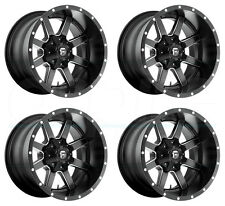 20x10 Fuel Maverick D538 6x135/6x5.5/6x139.7 -24 Black Milled Wheel New set(4)