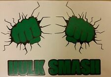The Incredible Hulk Smash Wall Sticker Vinyl Decal A4 Fists through Wall Decal