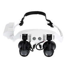 10x15x 20x 25x Head Wearing Magnifier Portable Magnifying Glass with 2 LED Light