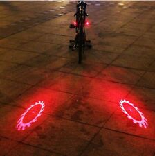 2Piece Set Bike Bicycle Laser Rear Light Safety Cycling 6 Modes 6LED Tail Lamp