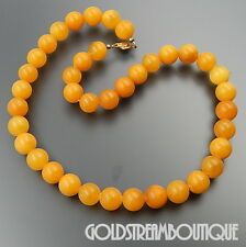 "VINTAGE BALTIC BUTTERSCOTCH AMBER SPHERE BEADS NECKLACE 18.5"" 33.5 GRAM"