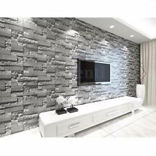 10M 3D Wallpaper Bedroom Mural Roll Modern Stone Brick Wall Background Textured