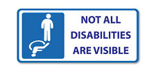2 X NOT ALL DISABILITIES ARE VISIBLE- Disabled vinyl, car, van decal sticker