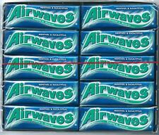 30x Wrigleys Airwaves Menthol & Eucalyptus Chewing Gum Full 30 pack 300 pcs
