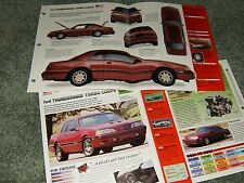 1987 FORD THUNDERBIRD TURBO COUPE SPEC INFO BROCHURE AD 87 TC