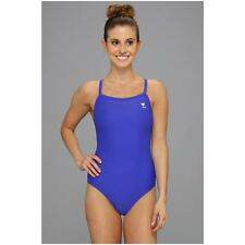 TYR SOLID DIAMOND FIT BACK ONE PIECE SWIMSUIT ROYAL BLUE SIZE 36 NEW! $62