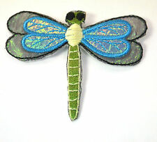 DRAGONFLY DAMSEL FLY INSECT Embroidered Iron Sew On Cloth Patch Badge APPLIQUE