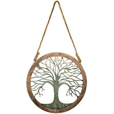 Round Wood & Metal Tree Wall Decor. polished touch in your farmhouse, cabin, or