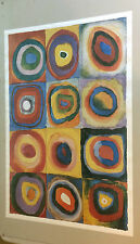 Wassily Kandinsky Farbstuide Quadrate vintage poster print pin-up 1990's circles