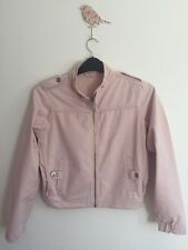 Ladies Zip Up Light Pink Denim Jacket Size 10-12