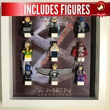 Lego Frame XMEN Apocalypse custom minifigure Display Case Picture + Figures