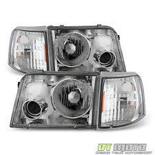1993-1997 Ford Ranger Headlights+Corner Signal Lamps w/Build-In Fog Lights 93-97