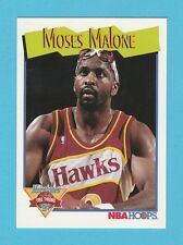 BASKETBALL - NBA PROPERTIES INC. - NBA HOOPS CARD NO. 318 - MOSES  MALONE - 1991