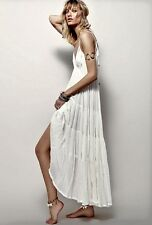 NWT Free People Maxi Dress Endless Summer ivory Babydoll Volumious Tier Swing L