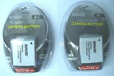 TWO 2X Batteries for Canon D20 D30 S120 SX170 SX520 SX280 SX600 SX610 SX710