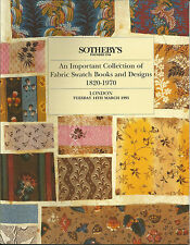 SOTHEBY'S Important Collection Textile Fabric Swatch Books Design Catalog 1995