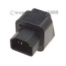 5 Pcs US UK EU AU to IEC 320 C14 Travel Adapter AC Power Plug Connector *Black