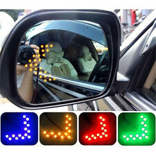 2 Pcs Arrow Panel 14SMD LED Car Side Mirror Turn Signal Light Multi Color WKCA