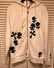 New Men's A&G Amal Guessous Hoodie White With Skulls And With Che SzL