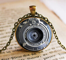 Handmade Vintage Camera Lens Cabochon Photo Glass Chain Pendant Necklace