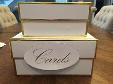 Gold and White Wedding Card Box