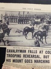 S2 Ephemera 1937 Picture Trooping The Colour Cavalry Man Falls