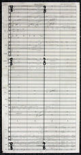 STAR WARS REPRO 2002 . ATTACK OF THE CLONES HANDWRITTEN MUSIC SCORE . NOT DVD