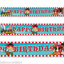 4.65m Jake And The NeverLand Pirates Party Happy Birthday Foil Banner Decoration