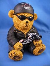 ORANGE COUNTY CHOPPER NEW YORK BIKER TEDDY BEAR BANK MOTORCYCLE AMERICAN USA