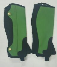 New Horse riding Amara Chaps Green and Black Size 6 Years