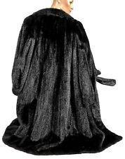 XL XXL SAGA MINK Pelzmantel Nerzmantel Schwarz Swinger LANG mink fur coat black