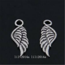 30pc Retro Tibetan Silver wings Charms Beads Pendant Jewellery Findings  PL914