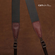 Adjustable Dark Brown Leather Cam-in DSLR Camera Strap CAM2247 UK Stock