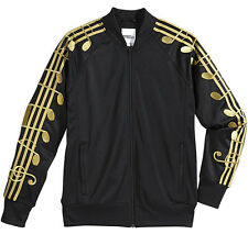 ADIDAS JEREMY SCOTT JS MUSIC NOTE TJ TRACK JACKET BLACK/GOLD Sz.XS bones M66603