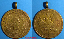 RUSSIA Bronze Jeton Medal 1900's Russian Eagle/ Jewerly for Women .25 mm Toning