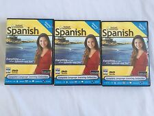 Instant Immersion Learn Speak SPANISH 1,2,4  I,II, IV  Software DVD Video SEALED