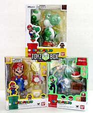 "In STOCK S.H. Figuarts ""Yoshi + Super Mario + Luigi"" Bandai Action Figure"