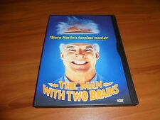 The Man With Two Brains (DVD, Full Frame 1999) 2 Steve Martin Used