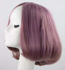 Lady Bob Style Wig Short Straight Colorful Hair Cosplay Harajuku Parted Bang Wig