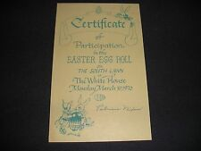 White House Easter Egg Roll President Richard Nixon Pat 1970 Participation S)