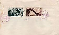 First day cover, Czechoslovakia, Scott #401-403, Tatra Skiing Cup, 1950